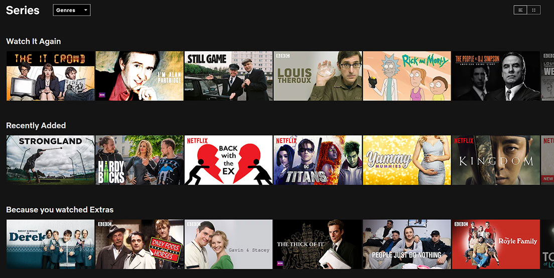 How to use Netflix - Search Options