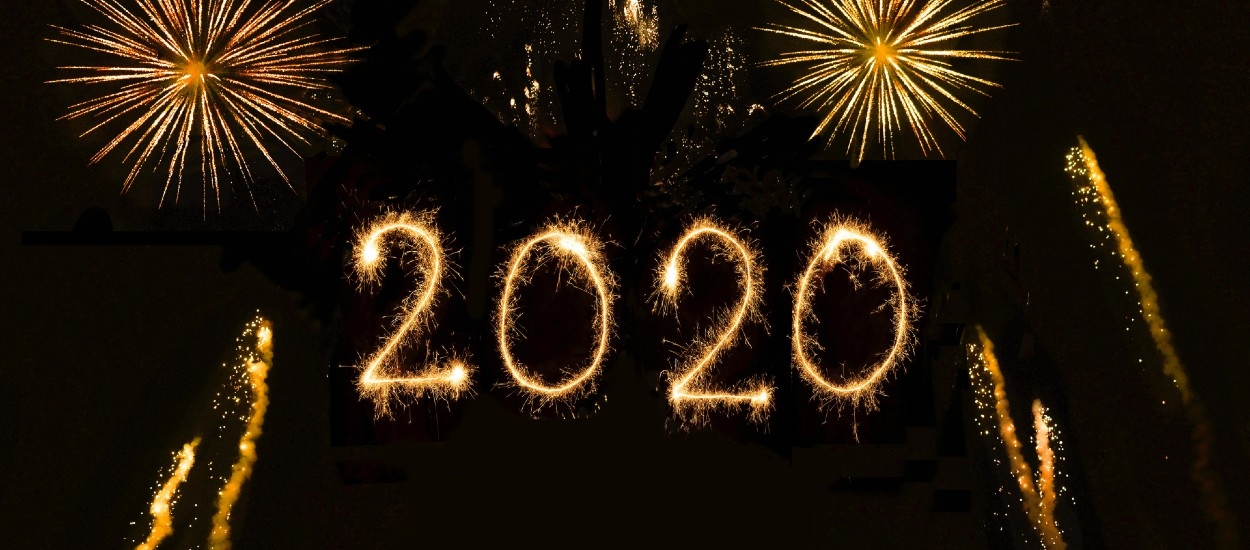 New Year's Resolutions for 2020 fireworks display