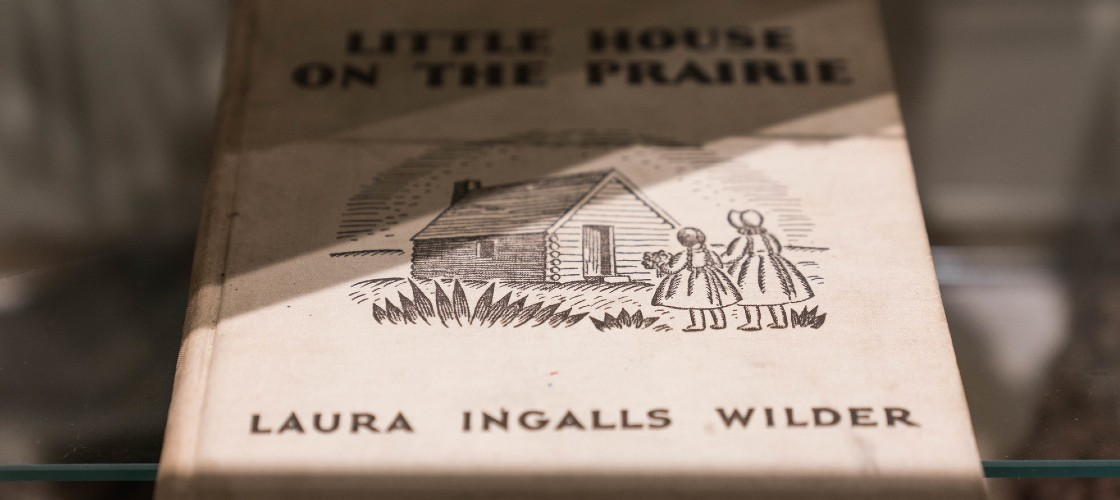 Picture of the Little House book which brought success for Laura Ingells Wilder