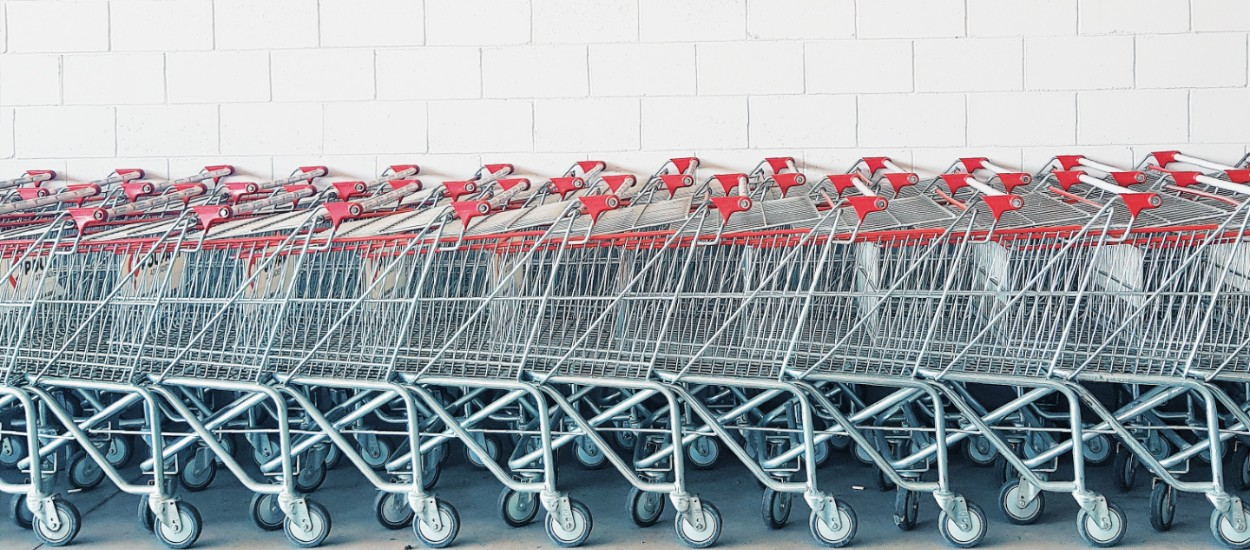 Shopping carts for groceries