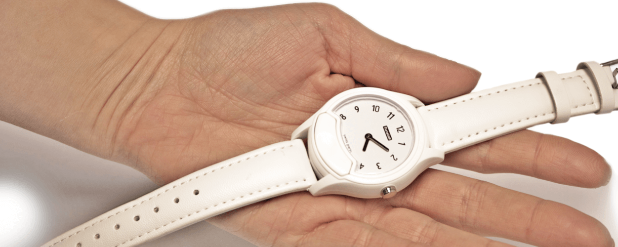 Minuet Fall Alarm Watch with white strap