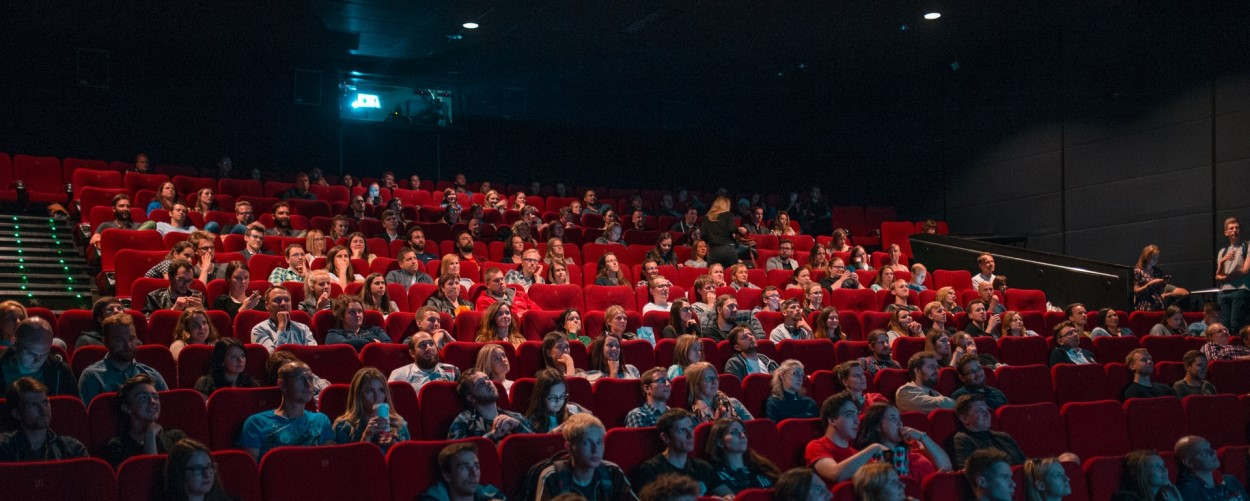 crowd in cinema